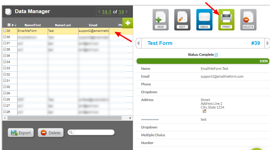 How to download a form submission as PDF – Help and Support