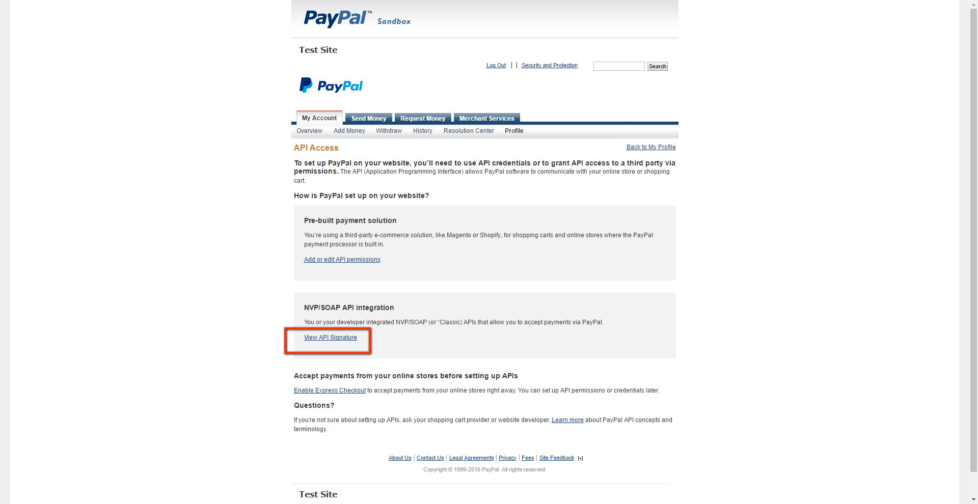 PayPal Website Payments Pro - How to obtain your API